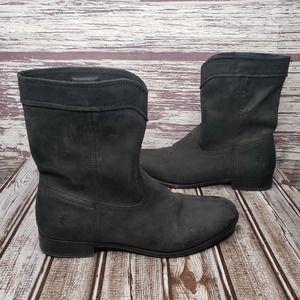 FRYE Cara Roper Black Leather boots Size 8